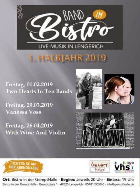 Band im Bistro Februar/März/April 2019 in der Gempthalle Lengerich